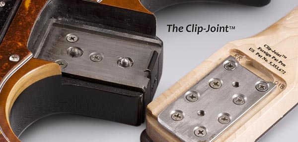 "Stewart Guitars patented ""Clip Joint"""