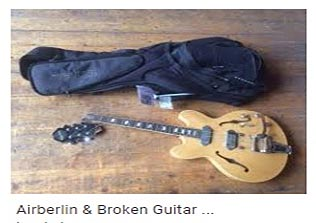 airberlin broke guitar
